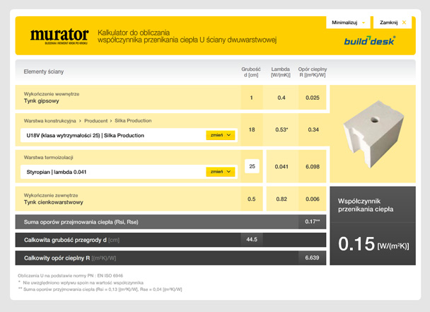 Murator - heat calculator